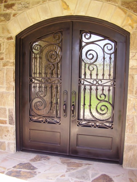 Home Entrance Door Wrought Iron Doors