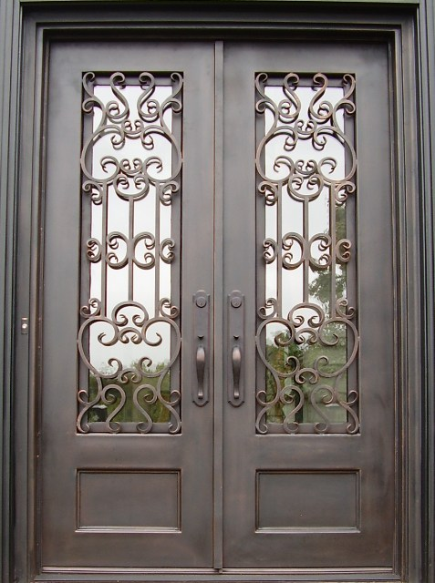 Iron Double Doors Wrought Iron Doors Custom Iron Doors